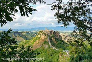 Una panoramica di Civita di Bagnoregio