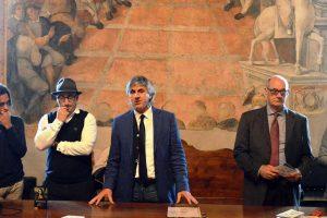 Tarquinia - Al centro l'assessore Sandro Celli