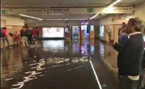 Roma - Stazione della metro allagata