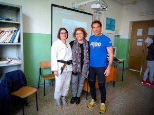 Civita Castellana - Maila Pistola, referente del progetto, la dirigente De Angelis e il maestro Giuseppe Pistola
