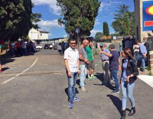 Civita Castellana - Artceram - La manifestazione di fronte all'azienda