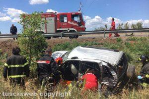 L'incidente sulla superstrada Monteromano - Viterbo