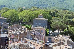 Villa Lante vista dalla torre di Bagnaia