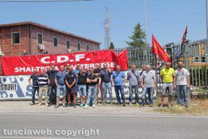 I lavoratori della Smavit in sciopero