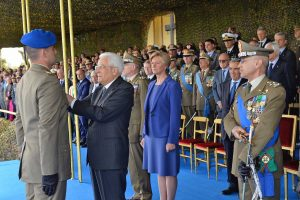 Roma - Sergio Mattarella conferisce la medaglia al valore dell'esercito al sergente Gabriele Pizzichetti