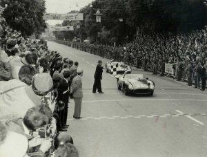 Piero Taruffi alla Mille Miglia nel 1957