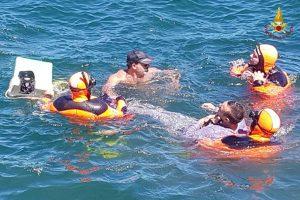 Palermo - Vigili del fuoco - Soccorso in mare