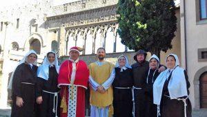 Le riprese del fil su santa Rosa a palazzo Papale