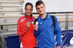 Sport - Atletica leggera - Eleonora Schertel e Simone Piazzolla