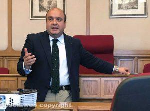 I corsisti di Tusciaweb Academy a Montecitorio - Il giornalista dell'Ansa Francesco Bongarrà