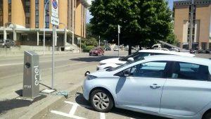 Viterbo - Via Garbini - Colonnina di ricarica per auto elettriche