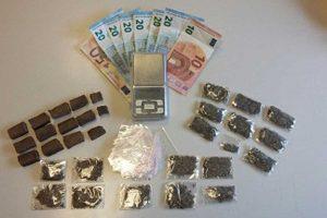 Viterbo - La droga sequestrata
