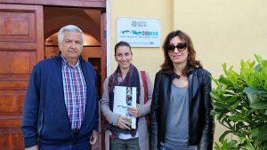 Il professor Nascetti. la deputata Silvia Benedetti e la consigliere regionale Silvia Blasi