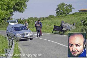 Montefiascone – L'incidente sulla Ss 71 - Nel riquadro Fabrizio Lupi