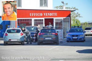 Viterbo - Operazione Déjà vu - Guardia di finanza e Polstrada nella concessionaria di via Mainella - Nel riquadro Elio Marchetti