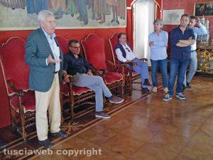 Viterbo - Comune - L'incontro di Michelini con i tifosi gialloblù