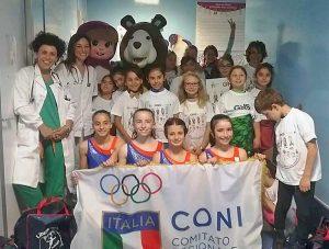 I ragazzi dell'Asd Libertas Pilastro in visita a Pediatria