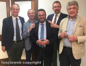 Gli avvocati Antonio Manganiello, Riccardo Micci, Franco Laugeni. Giuseppe Puri e Marco Russo