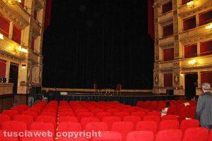 Viterbo - L'interno del teatro dell'Unione