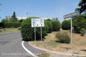 Viterbo - L'impianto per lo smaltimento dei rifiuti di Casale Bussi