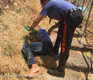 Civita Castellana - La vittima soccorsa dai carabinieri