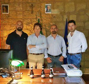 Bagnoregio - Bigiotti con i produttori della Bireta