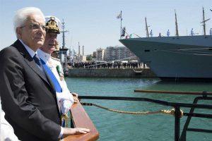 Il Presidente della Repubblica Sergio Mattarella a Civitavecchia