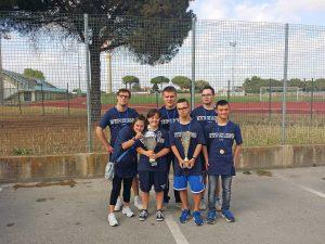 Gli atleti della polisportiva Hyperion asd onlus Latina