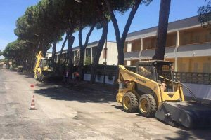 Montalto di Castro - I lavori lungo via Tre Cancelli