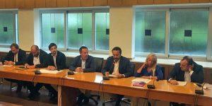 La conferenza stampa del centrodestra alla regione Lazio