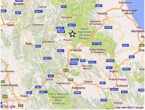 Terremoto a L'Aquila di 3,9 gradi