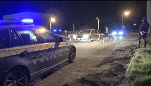 La polizia stradale durante i controlli