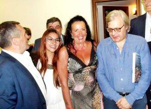 Tarquinia - Vittorio Sgarbi con Elisabetta Lupetti