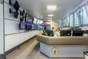 La centrale operativa dell'istituto di vigilanza privata