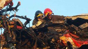 Viterbo – Superstrada – Camion esce di strada e va a fuoco - L'intervento dei vigili del fuoco