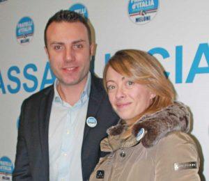 Alberto Cataldi e Giorgia Meloni
