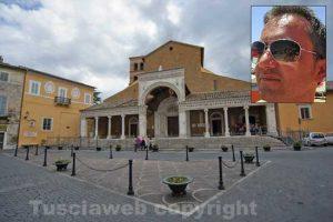 Il duomo di Civita CAstellana - Nel riquadro Andrea Barduani Proietti