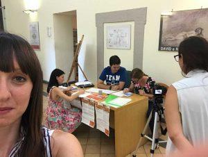Gli studenti all'opera