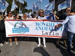 Movimento animalista di Viterbo alla manifestazione di Roma