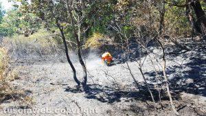 Viterbo - Incendio sulla Cimina - Protezione civile in azione