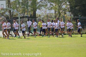 Sport - Calcio - Viterbese - La squadra al lavoro a Chianciano Terme nel 2017