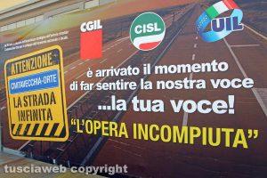 Monteromano - Manifestazione sindacale per la trasversale