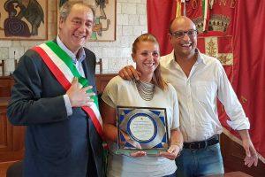 Sport - Tiro con l'arco - Anastasia Anastasio premiata nella sua Tarquinia