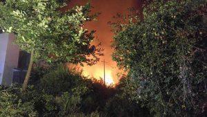 L'incendio di bosco a Bassano Romano