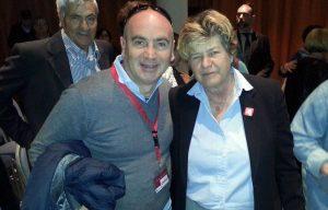 Il segretario provinciale Flai Cgil Massimiliano Venanzi con Susanna Camusso
