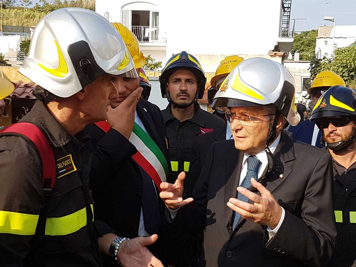 Ischia- La visita del Presidente della Repubblica Sergio Mattarella