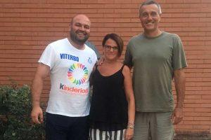 Sport - Pallavolo - Da sinistra: Francesco Rita (VBC Viterbo), Stefania Nicolosi (Tuscania volley) e Giancarlo De Gennaro (Asp Civitavecchia)