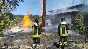 Orte - Incendio in località Petignano