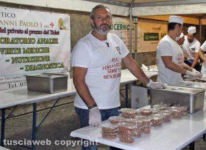 Viterbo - Cene in piazza - Facchini santa Rosa
