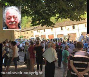Vallerano - I funerali di Giorgio Rapiti - Nel riquadro: Giorgio Rapiti